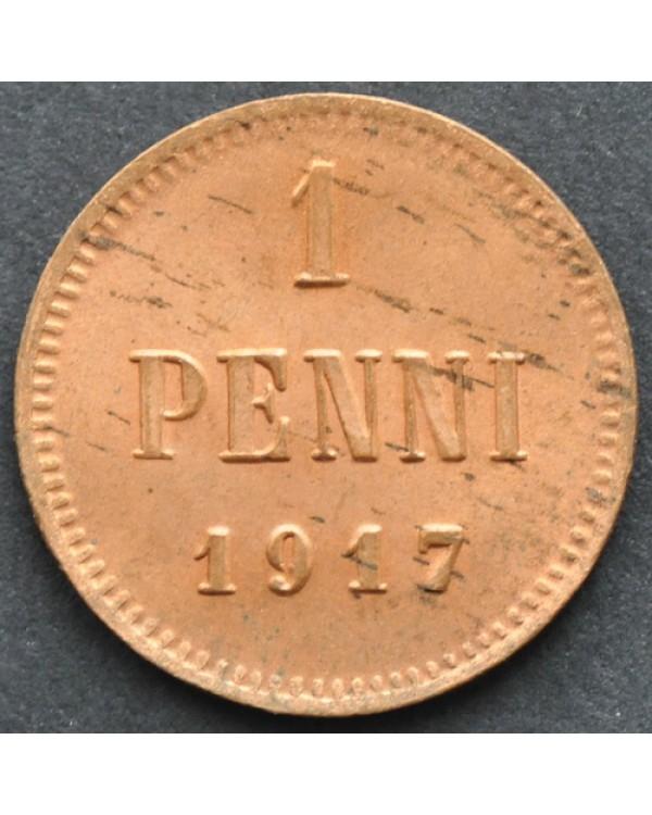 1 пенни 1917 года  без короны