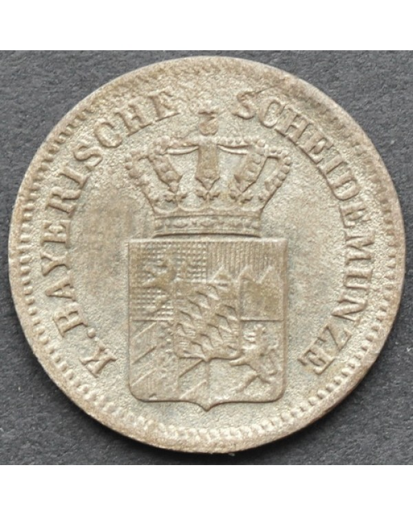 1 крейцер 1868 года Бавария