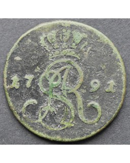 1 грош 1791 года