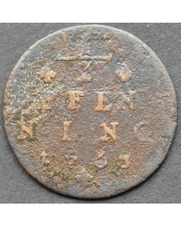 1/2 пфенниг 1763 года