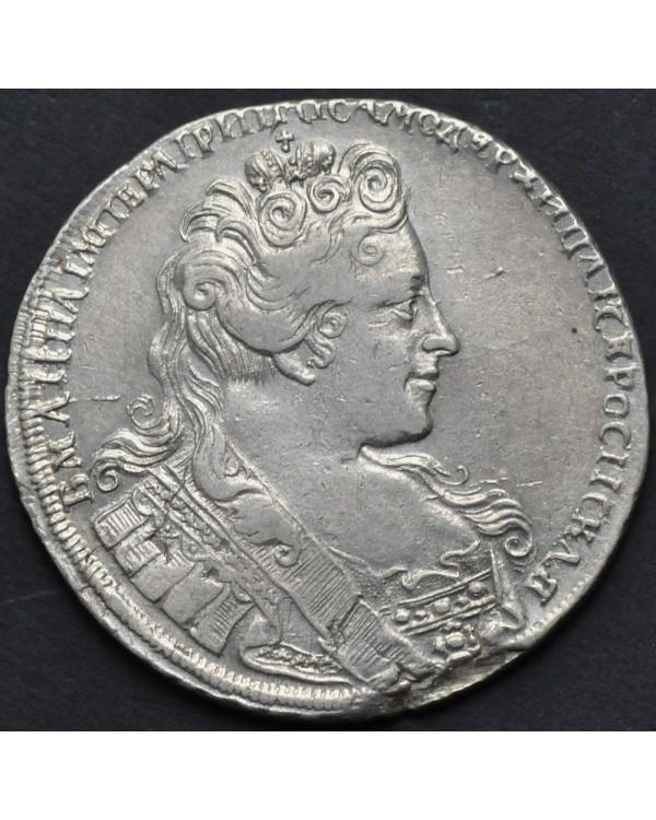 """1 рубль 1731 года """"портрет с брошью на груди"""""""