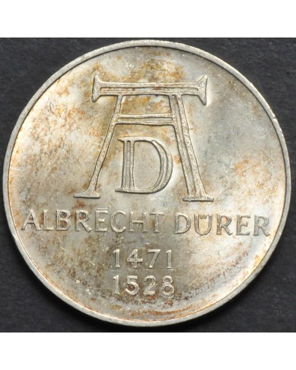 5 марок 1971 года - 500 лет со дня рождения Альбрехта Дюрера