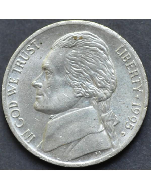 5 центов 1995 года D США