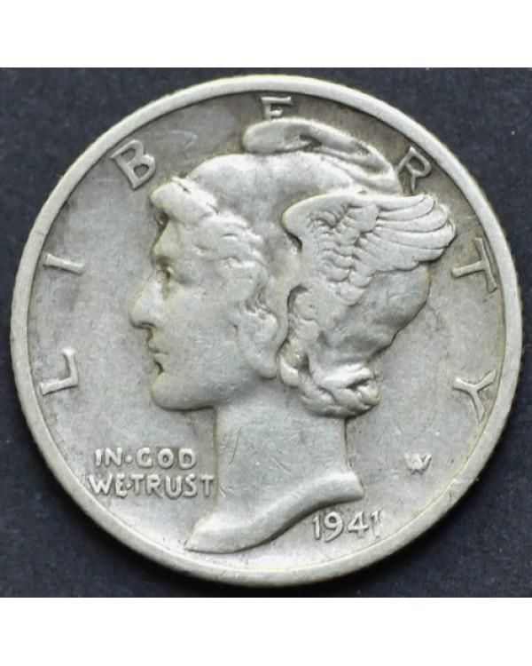 10 центов (1 дайм) 1941 года США