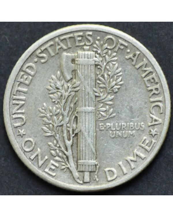 10 центов (1 дайм) 1942 года США