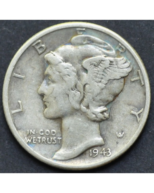 10 центов (1 дайм) 1943 года США