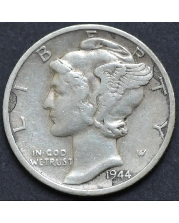 10 центов (1 дайм) 1944 года США