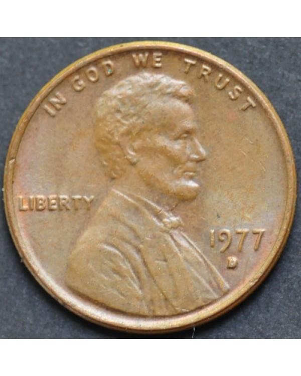 1 цент 1977 года D США
