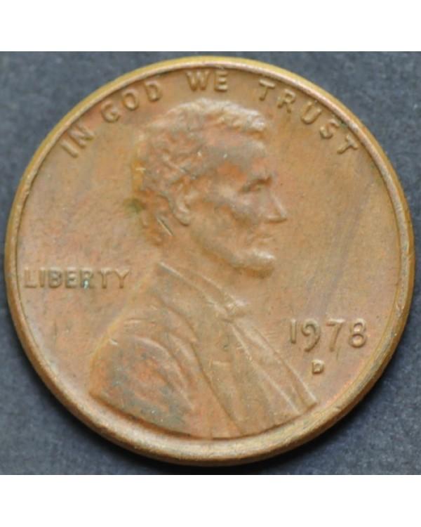 1 цент 1978 года D США