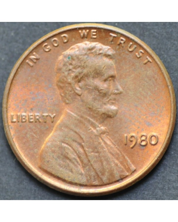 1 цент 1980 года США