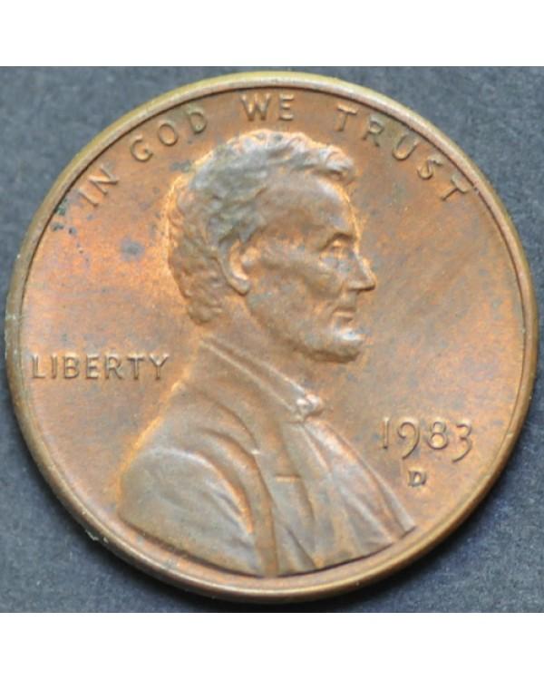 1 цент 1983 года D США