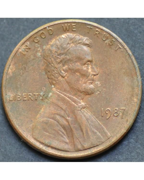 1 цент 1987 года США