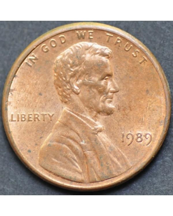 1 цент 1989 года США