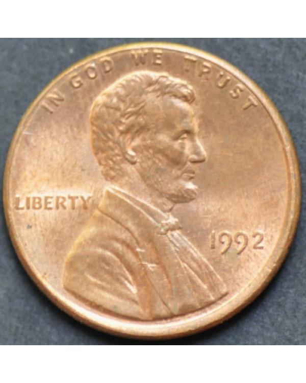 1 цент 1992 года США