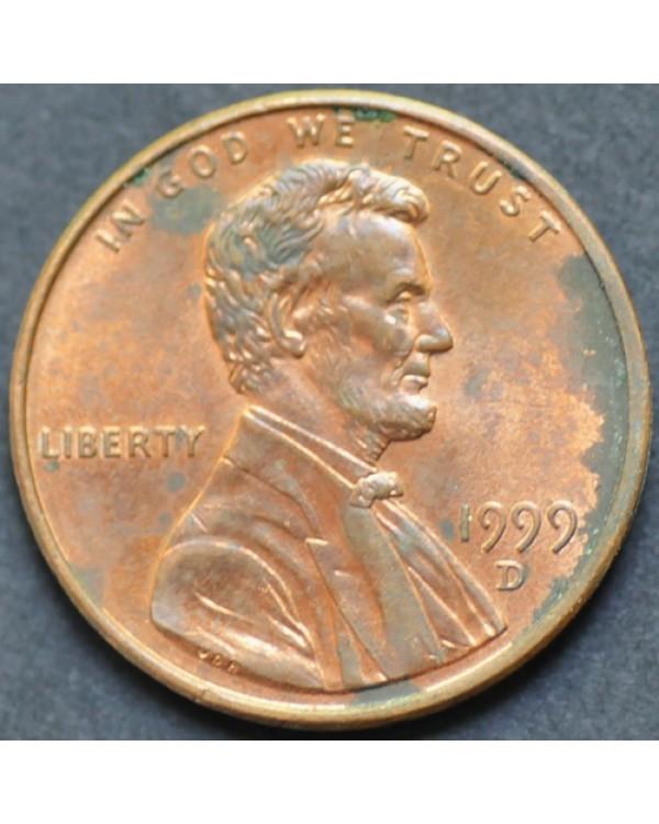1 цент 1999 года D США