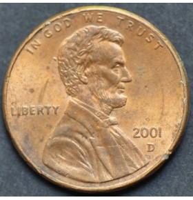 1 цент 2001 года D США