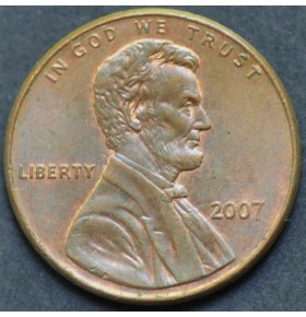 1 цент 2007 года США