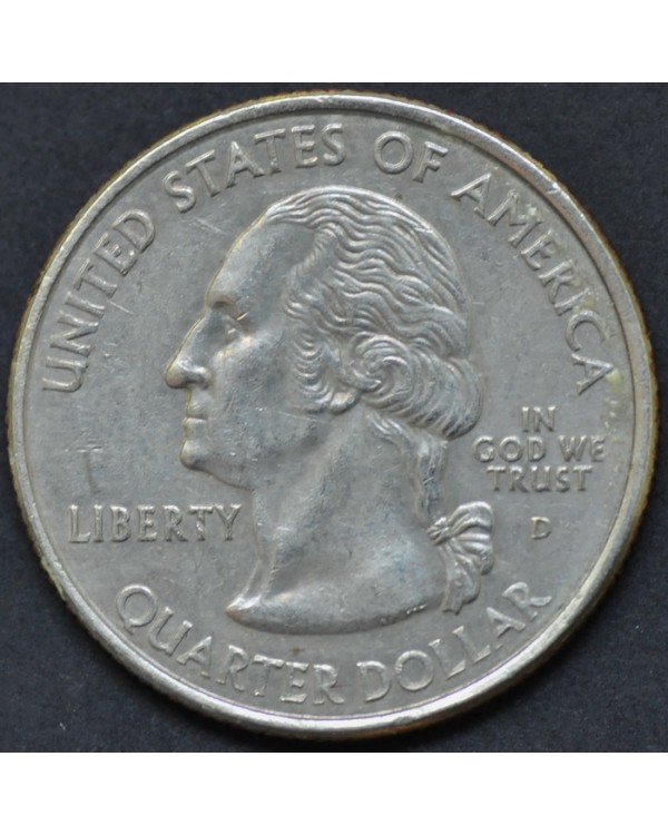 "25 центов (квотер) ""штат Флорида"" 2004 года США"