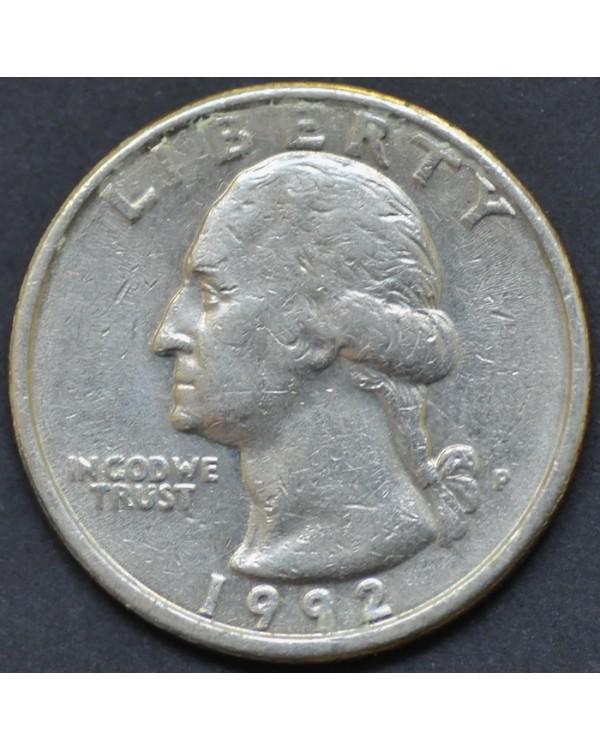 25 центов (квотер) 1992 года США