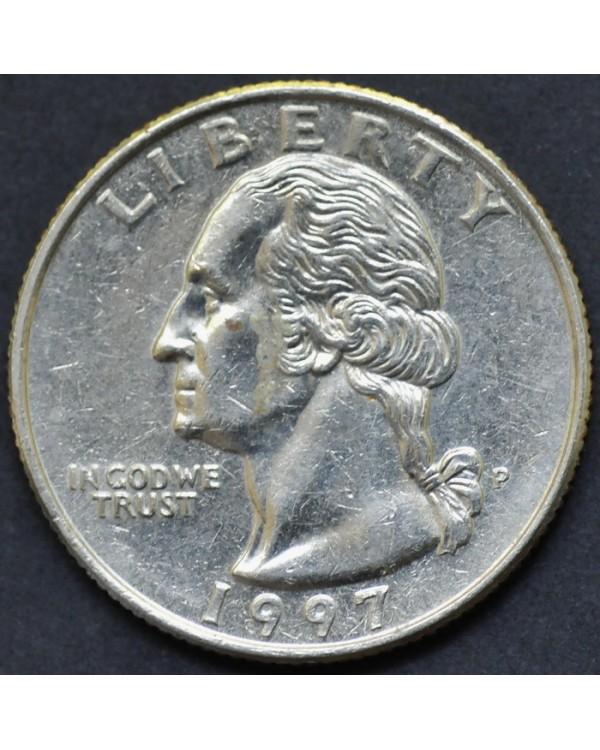 25 центов (квотер) 1997 года США