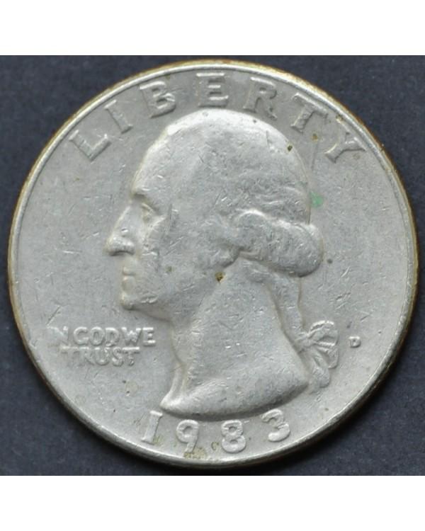 25 центов (квотер) 1983 года США