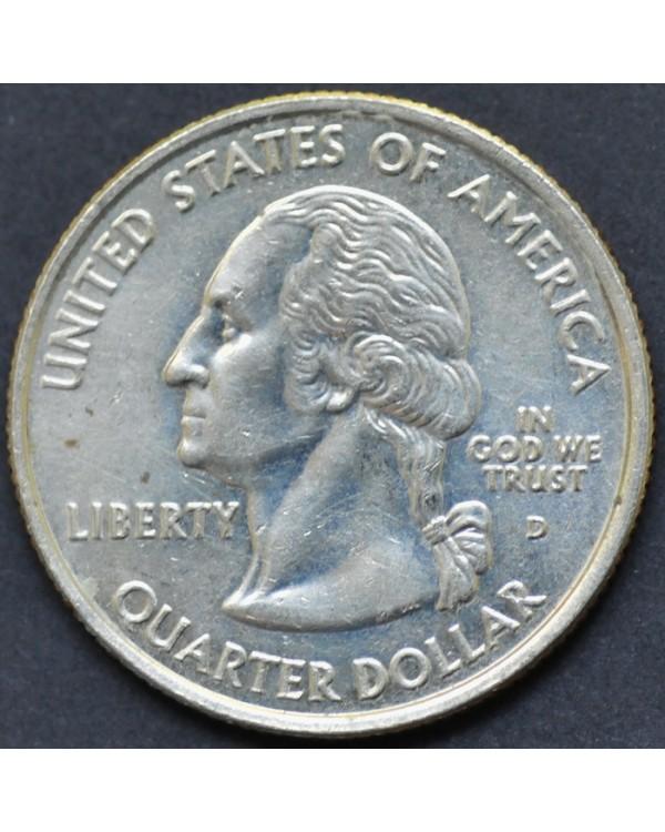 """25 центов (квотер) """"штат Монтана"""" 2007 года США"""