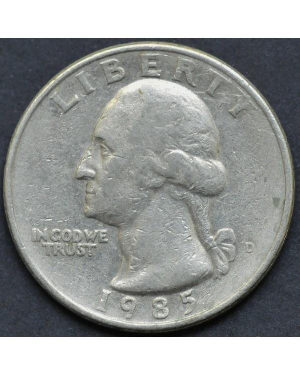 25 центов (квотер) 1985 года США