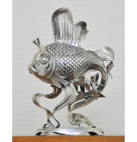 """Икорница """"Золотая рыбка"""" из серебра 925 пробы"""
