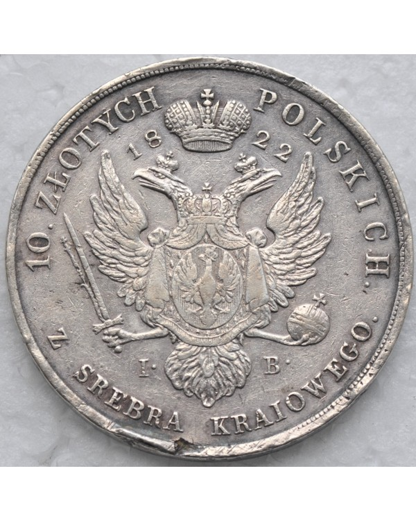 10 злотых 1822 года IB