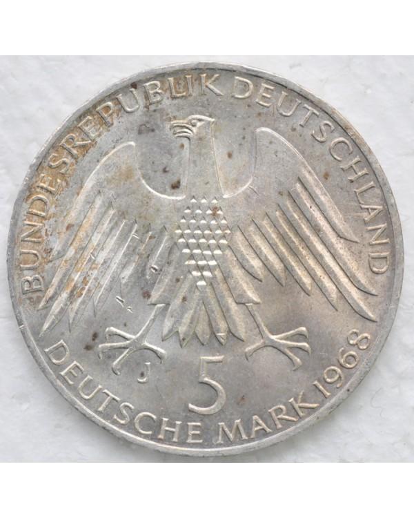 5 марок 1968 года - 150 лет со дня рождения Фридриха Вильгельма Райффейсена
