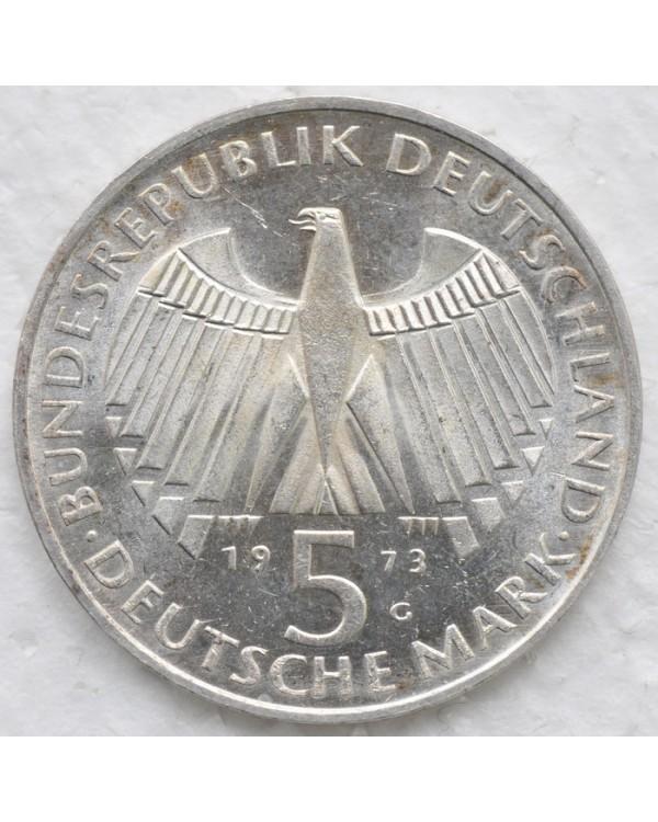 5 марок 1973 года - 125 лет со дня открытия Национального Собрания