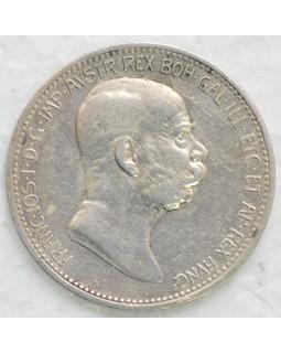 1 крона 1908 года - 60 лет правлению
