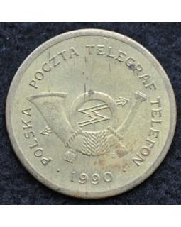 Жетон польская почта,  телеграф, телефон 1990 года