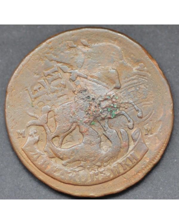 2 копейки 1788 года ММ перечекан