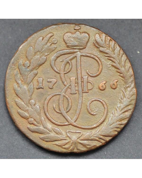 2 копейки 1766 года ММ