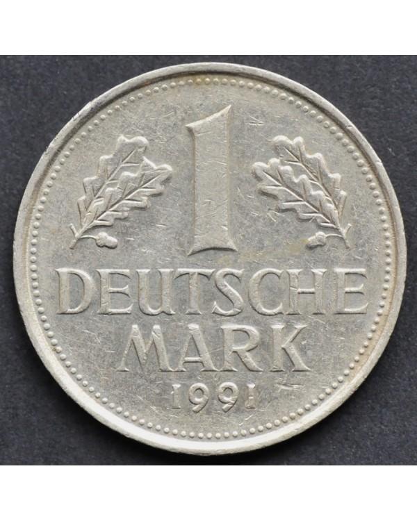 1 марка 1991 года ФРГ