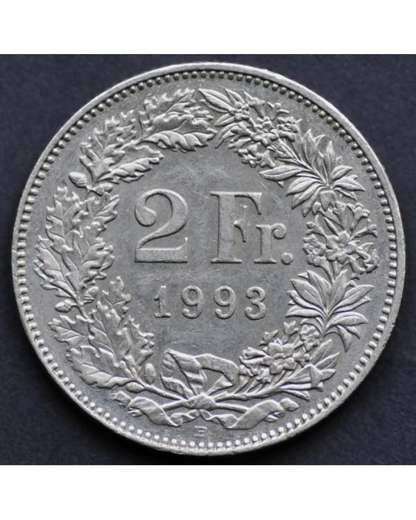 2 франка 1993 года Швейцария
