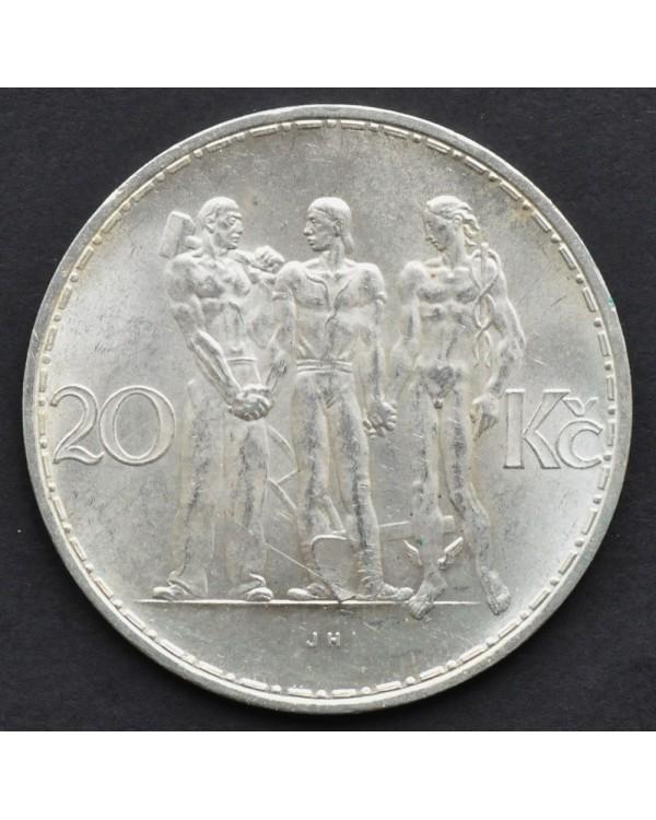 20 крон 1934 года Чехословакия