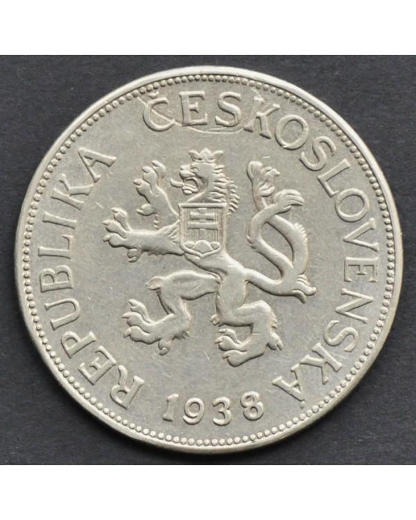 5 крон 1938 года Чехословакия