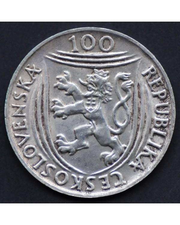 """100 крон 1951 года Чехословакия """"30 лет Коммунистической партии Клемент Готвальд"""""""