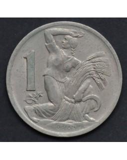 1 крона 1938 года Чехословакия
